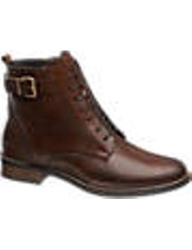 brown-lace-up-leather-ankle-boots by 5th-avenue