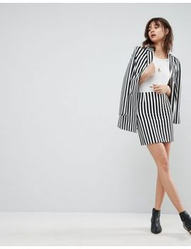 asos-tailored---mini-jupe-à-rayures-monochromes by asos-collection