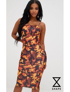 shape-camo-straight-neck-midi-dress by prettylittlething
