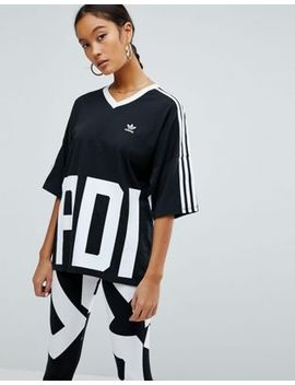 adidas-originals-bold-age-v-neck-three-stripe-t-shirt by adidas