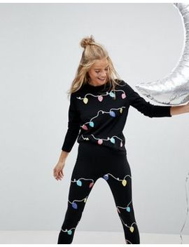 asos-christmas-t-shirt-with-christmas-lights by asos-collection