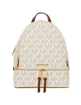 vanilla-rhea-zip-backpack by michael-kors