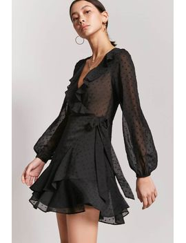sheer-ruffle-wrap-dress by forever-21