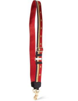 leather-trimmed-metallic-canvas-bag-strap by marc-jacobs