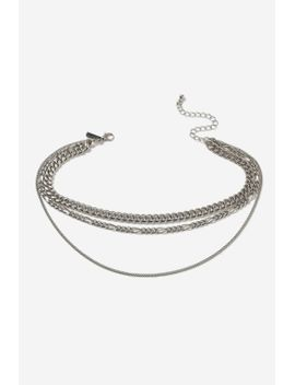 three-row-chain-choker-necklace by topshop
