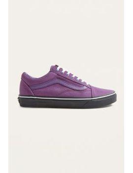 vans-old-skool-purple-and-black-sole-trainers by vans