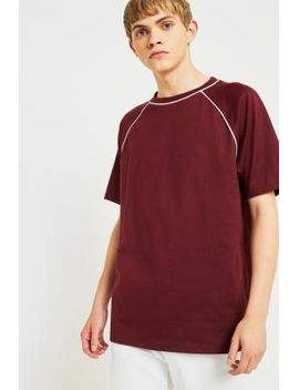 uo-burgundy-piped-raglan-t-shirt by urban-outfitters