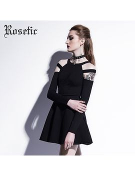 rosetic-gothic-mini-dress-black-fashion-hollow-autumn-women-casual-dress-dark-street-wild-sexy-preppy-a-line-goth-mini-dresses by rosetic