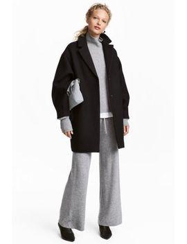 casaco-de-meia-altura-com-lã by h&m