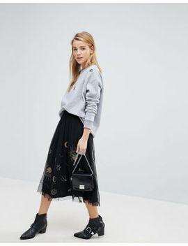 pimkie-galaxy-embellished-mesh-midi-skirt by pimkie