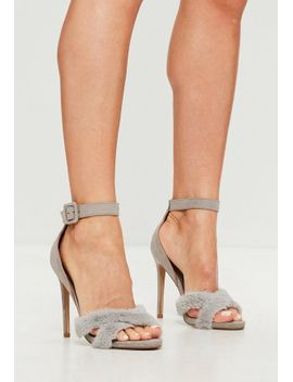 grey-faux-fur-cross-over-heel by missguided