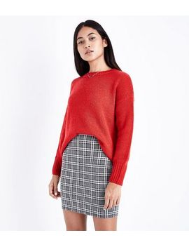 petite-black-check-jacquard-tube-skirt by new-look