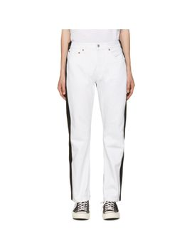 white-&-black-pleatfront-jeans by bless