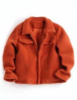 zipper-shearling-jacket---jacinth-s by zaful