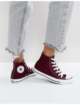 converse-–-chuck-taylor-all-star-–-knöchelhohe-sneaker-in-burgunderrot by converse