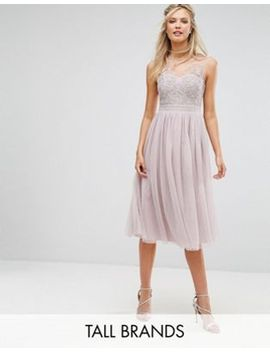 little-mistress-tall-lace-applique-top-midi-tulle-prom-dress by little-mistress