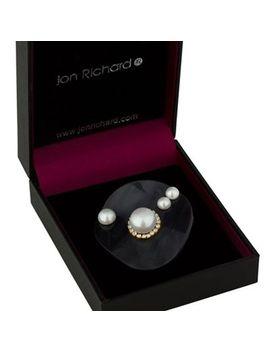 jon-richard---black-wave-pearl-brooch by jon-richard