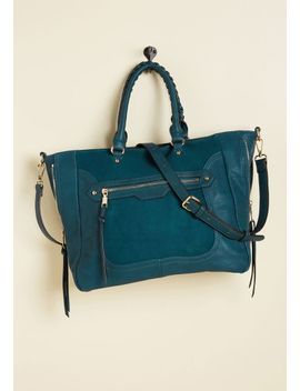 tasks-all-over-town-bag-in-teal by modcloth