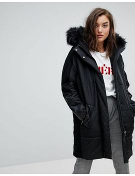 river-island-faux-fur-hood-oversized-padded-coat by river-island