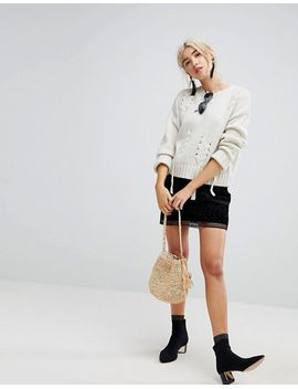 new-look-threaded-lace-up-jumper by new-look