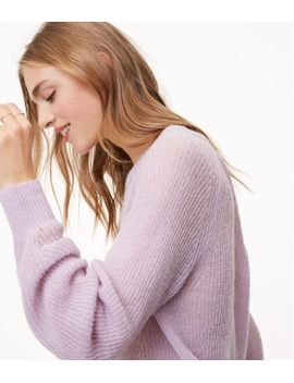 ribbed-blouson-sweater by loft