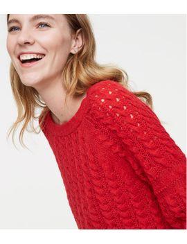 blouson-cable-sweater by loft
