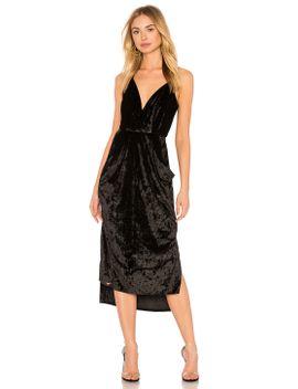 midi-faux-wrap-dress-in-black by bcbgeneration