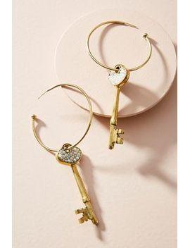 pearled-key-hoop-earrings by anthropologie