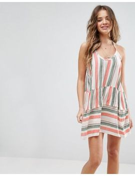 asos-beach-washed-stripe-halter-neck-dress by asos-collection