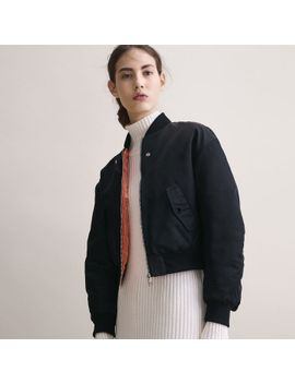 cropped-reversible-bomber-jacket by maje