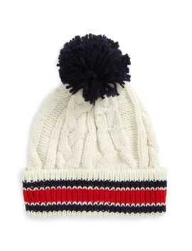 varsity-stripe-cable-knit-beanie by bp