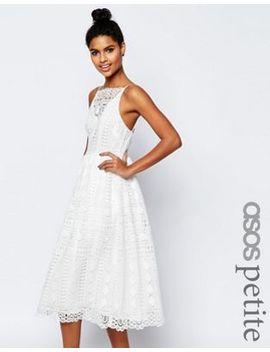 asos-petite-premium-occasion-midi-dress-in-geo-lace by asos-petite