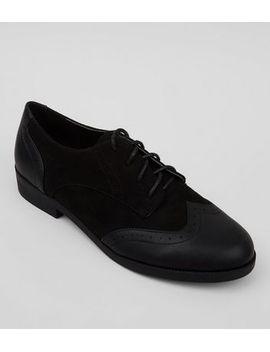 chaussures-richelieu-noires-à-lacets by new-look