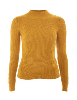 roll-neck-button-detail-jumper by topshop