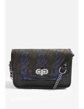 leather-metallic-camo-cross-body-bag by topshop