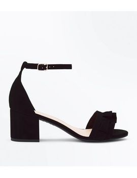 wide-fit-black-frill-strap-low-block-heel-sandals by new-look
