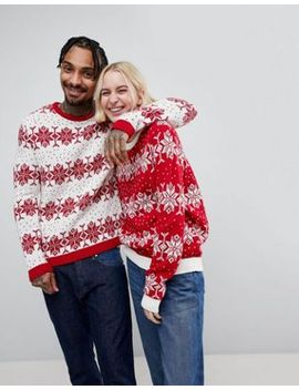 asos-christmas-snowflake-jumper by asos-collection