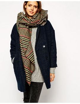 asos-tweed-check-oversized-scarf by asos-collection