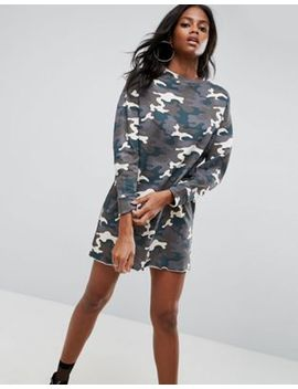 asos-sweat-dress-in-washed-camouflage by asos-collection