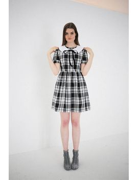 amelie-tartan-dress-with-detachable-collar by etsy