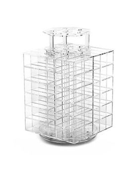 hotrose-clear-acrylic-spinning-lipstick-tower-premium-lipgloss-holder-makeup-80 by ebay-seller