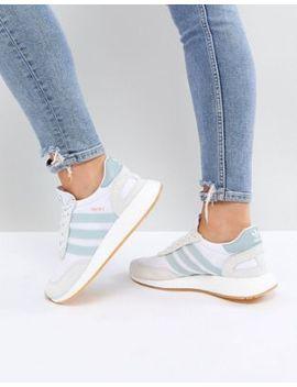 adidas-originals-i5923-trainers-in-white-and-mint by adidas