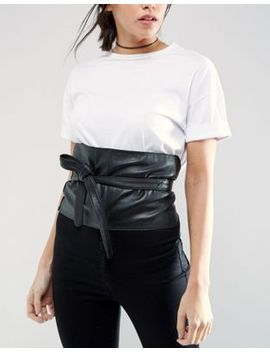 asos-wide-leather-obi by asos-collection