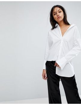 gestuz-long-shirt-with-asymmetric-detail by gestuz