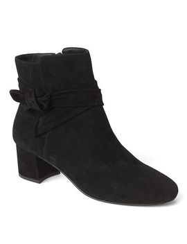 suede-knot-tie-booties by gap