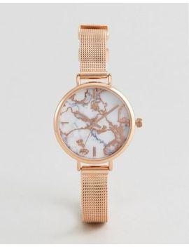 asos-premium-metallic-marble-mesh-watch by asos-collection