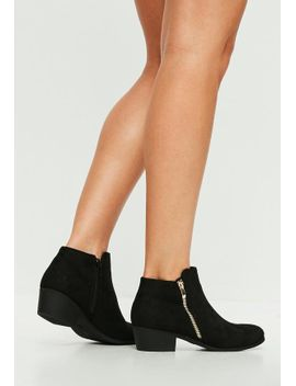 black-side-zip-ankle-boots by missguided