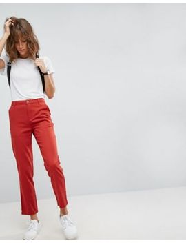 asos-chino-trousers-in-red by asos-collection