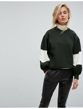 moss-copenhagen-oversized-sweatshirt-with-balloon-panel-sleeves by moss-copenhagen