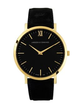 lugano-40mm-gold-_-black-leather by the-idle-man